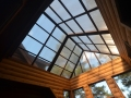 Skylight in a cabin in the woods