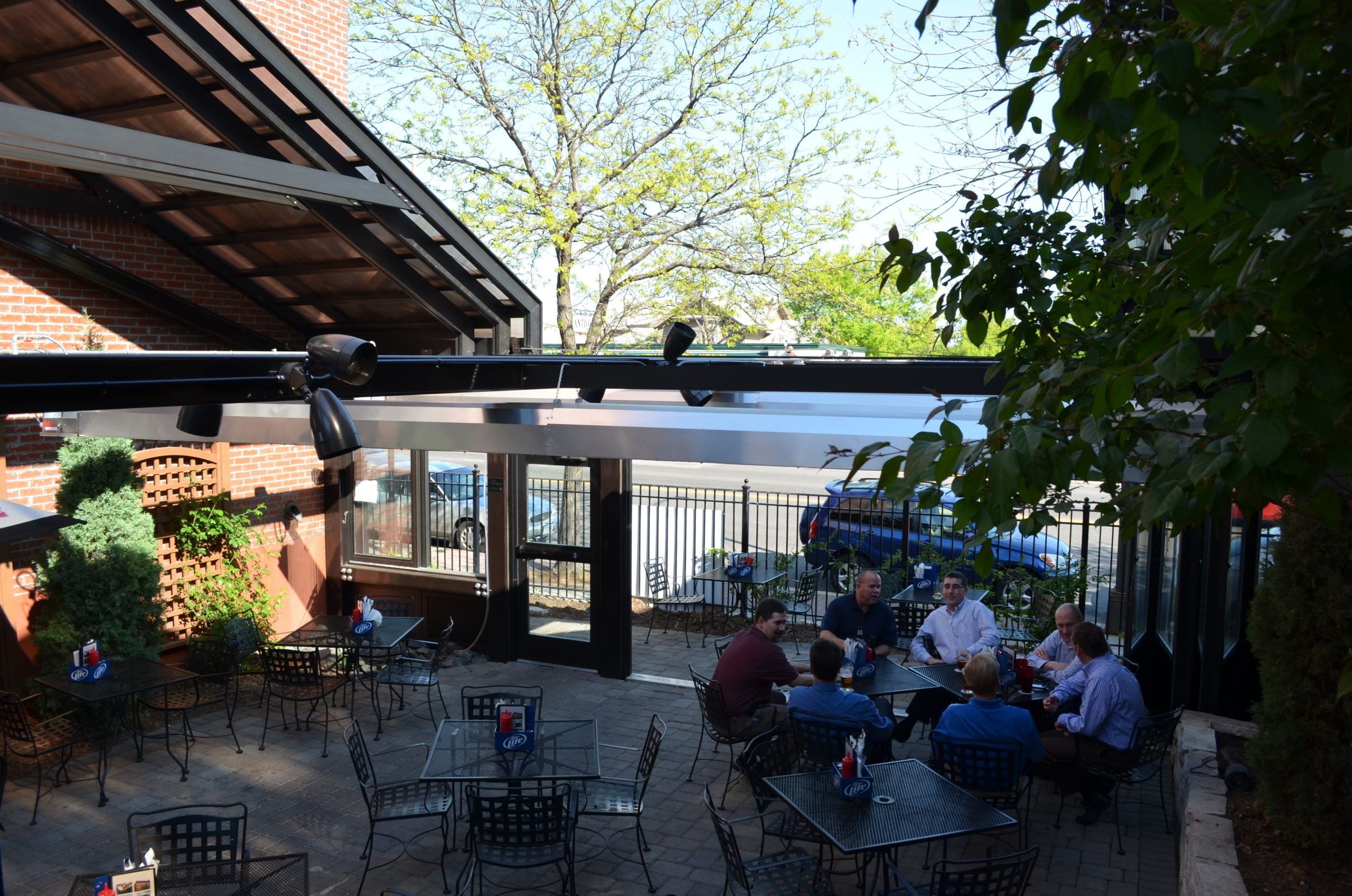 Restaurant patio enclosure