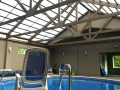 Four season retractable roof over pool