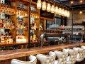 Translucent roof over restaurant bar