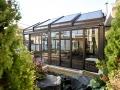 Retracting patio  enclosure