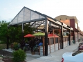 Minnesotan Market and Cafe patio with retractable roof for rain and snow covering